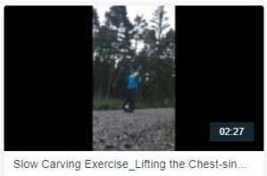 Slow Carving Exercise_Lifting the Chest-sink down and draw lower legs back