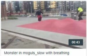 Monster in Moguls - slow with breathing
